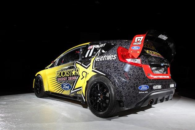 Tanner Foust S 2011 Fiesta Rallycross Racer Heading For