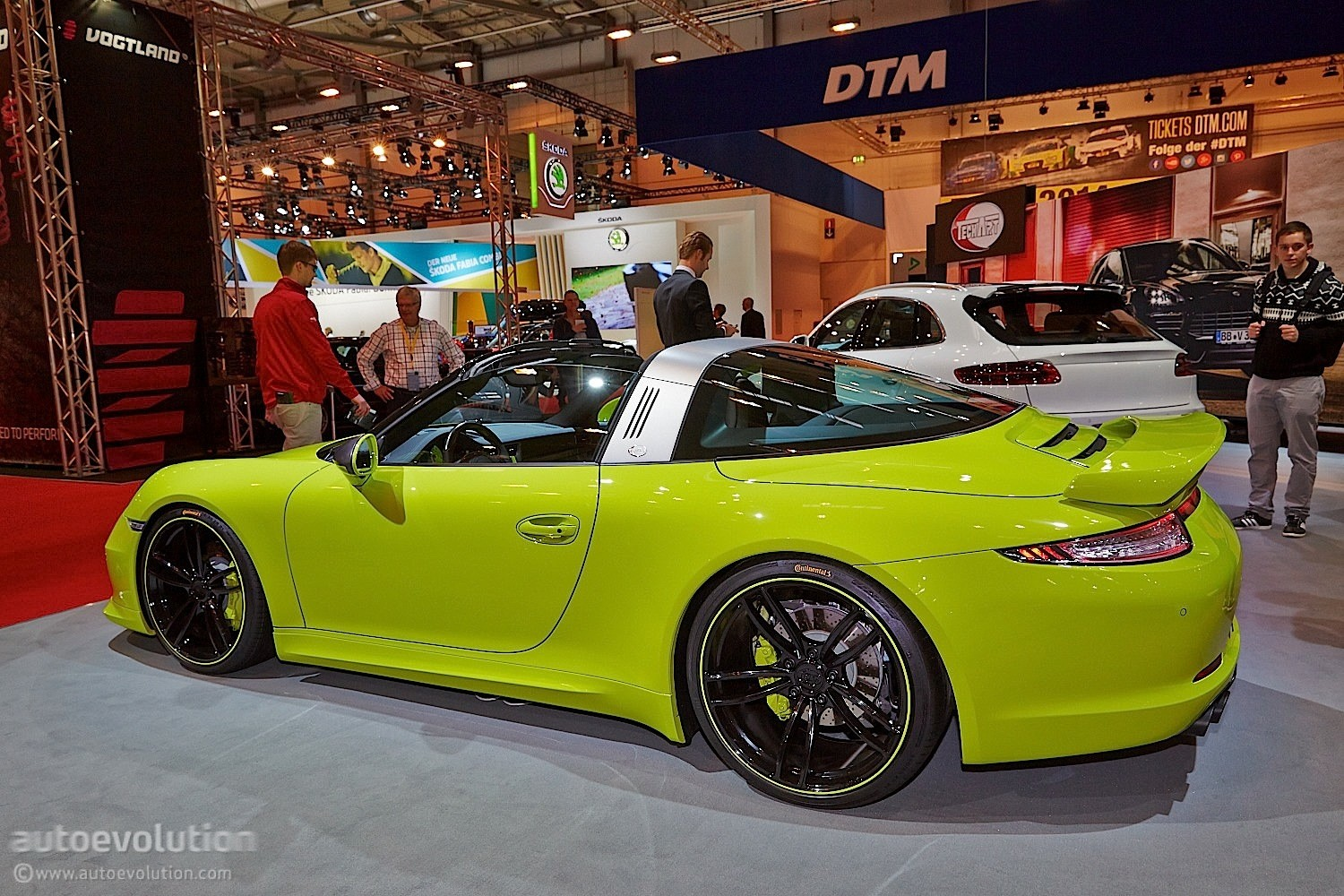 Techart porsche 911 targa makes essen 2014 a green show live photos autoevolution
