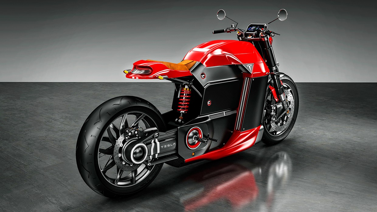 Tesla Electric Motorcycle Imagined By Jans Slapins Has