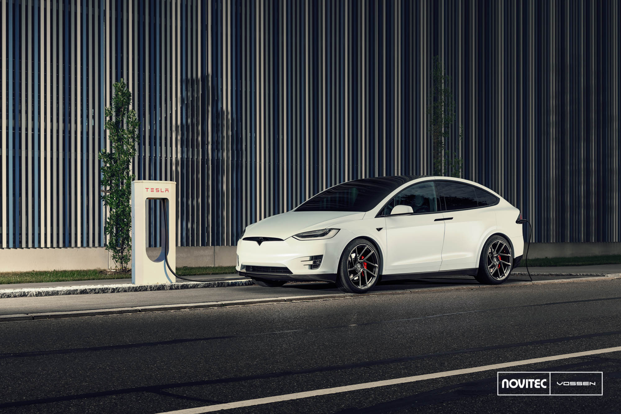 Tesla Model X by Novitec Has Vossen Wheels Goes Minimalist