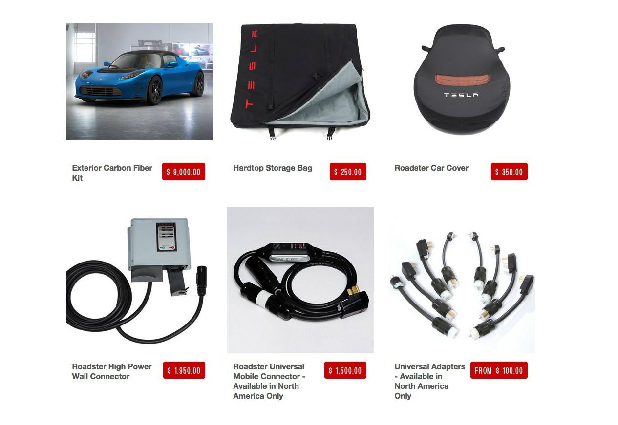 Tesla Merchandise Website Sells Carbon Fiber Bits And Bobs