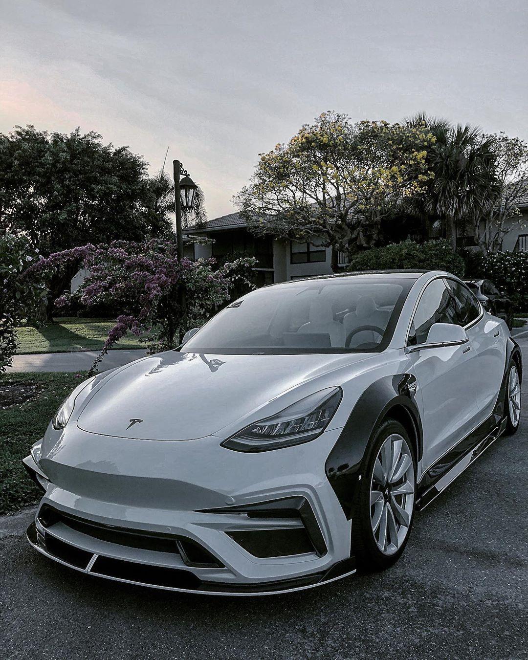 "Tesla Model 3 ""Blizzard"" Rocks Carbon Widebody Aero ..."