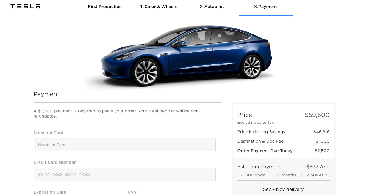 Tesla Model 3 Configurator Looks Like The Real Deal, But ...