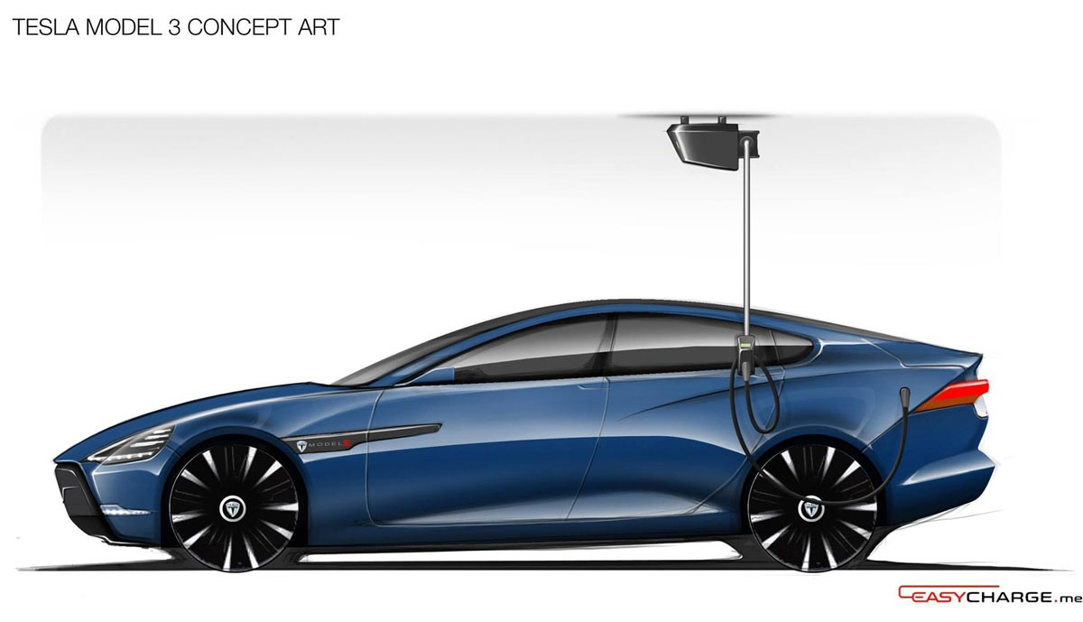 Tesla model 3 has suicide doors and crossover ego in for Door design new model 2017