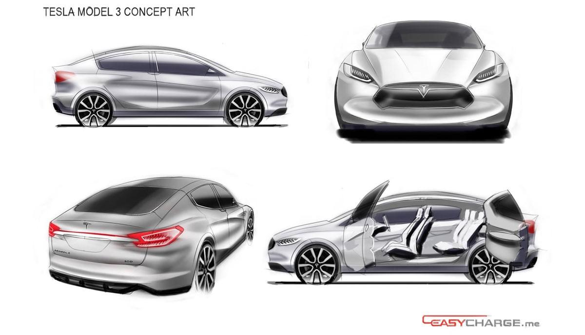 Tesla Model 3 Has Suicide Doors And Crossover Ego In