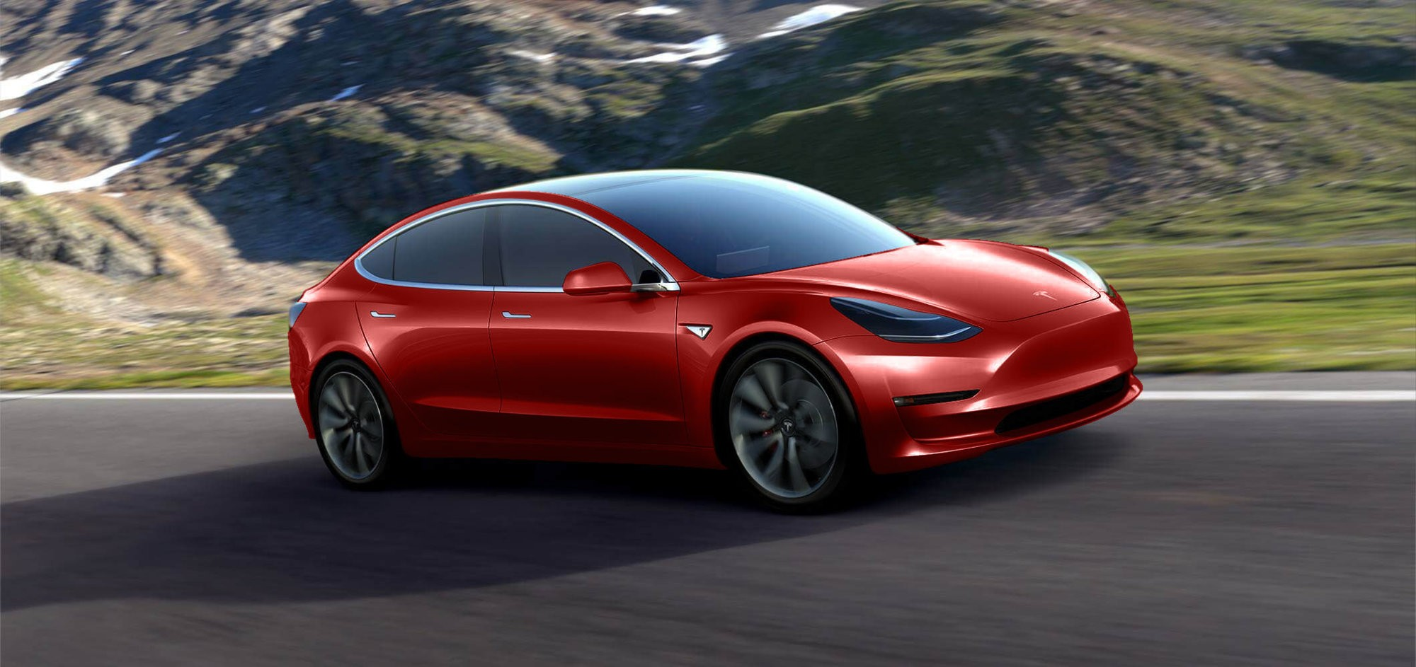 Tesla Model 3 In Diffe Colors