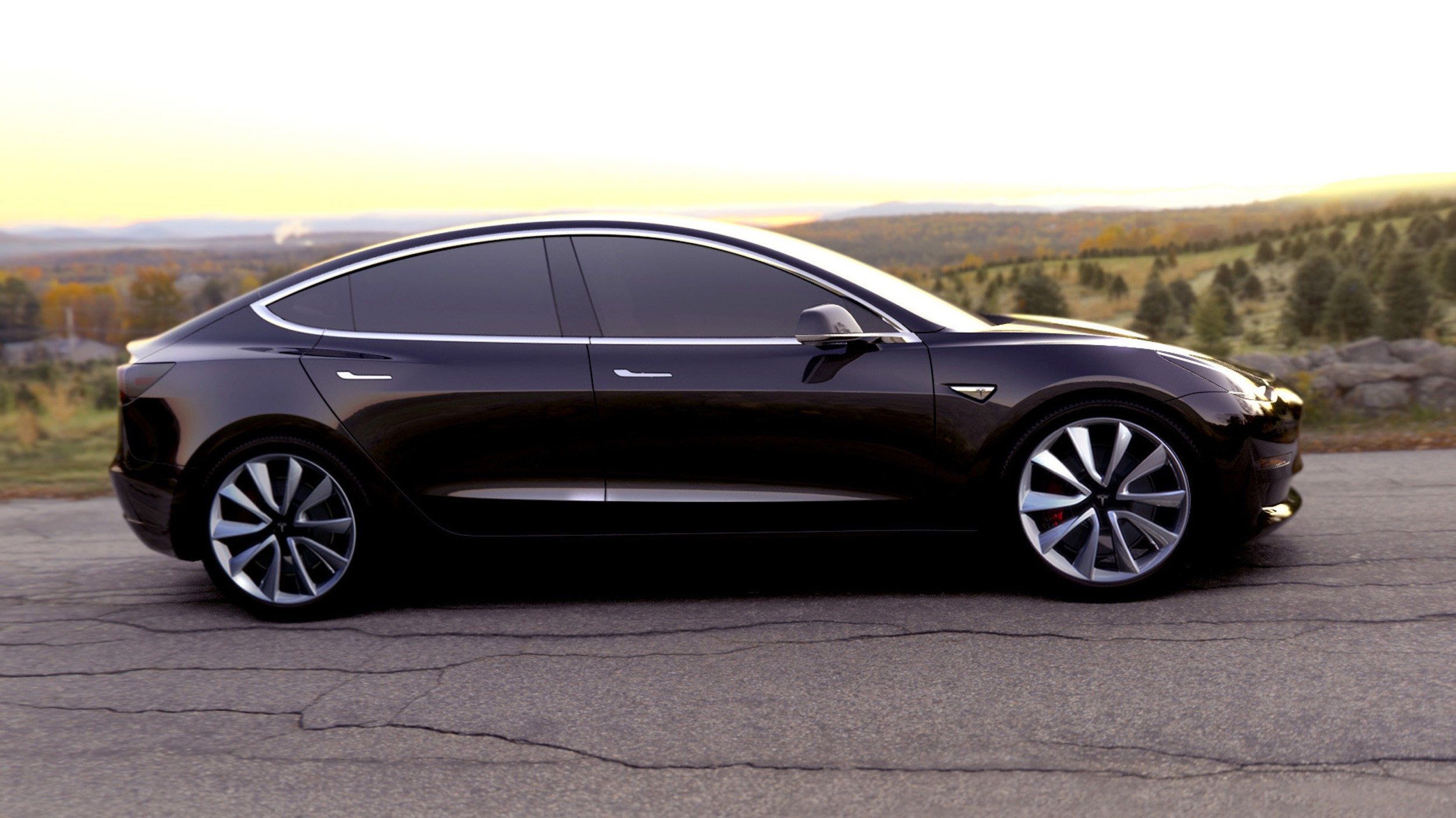 Tesla model 3 interior in broad daylight looks like for Interieur tesla