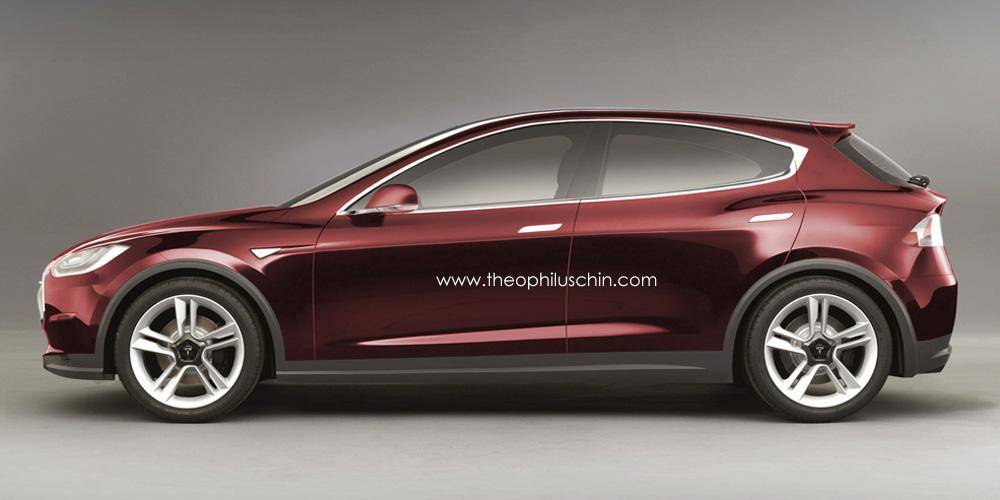 Tesla Model C Compact Ev Rendering Autoevolution