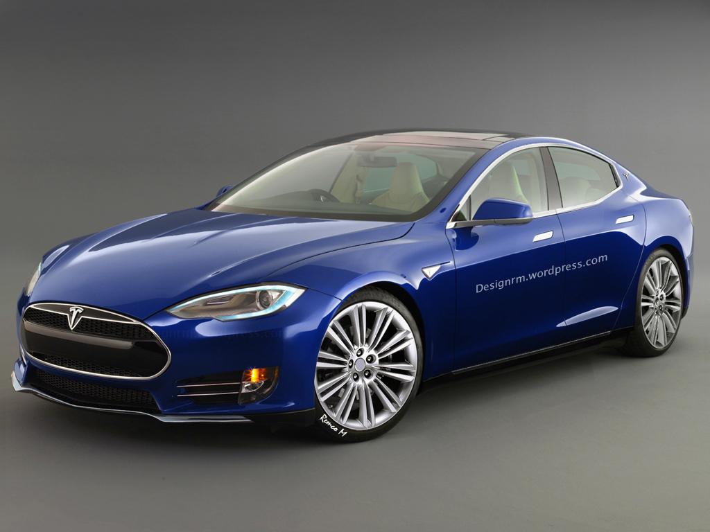 New Tesla Model E Rendering Autoevolution