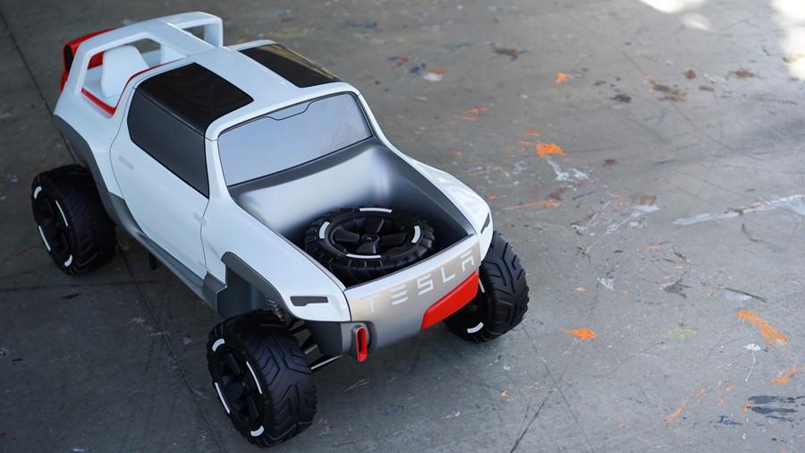 Tesla Model P Rendering Has the 2017 SVT Raptor for ...