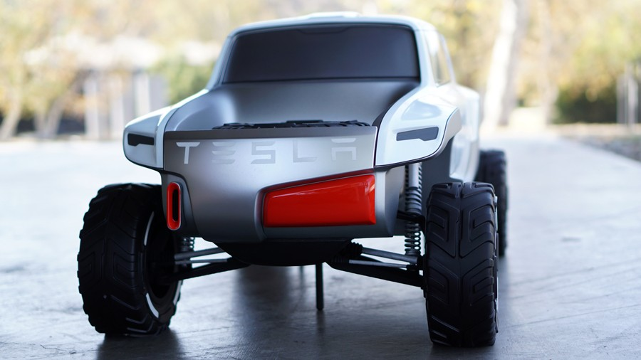 Electric Pickup Truck >> Tesla Model P Rendering Has the 2017 SVT Raptor for Inspirations - autoevolution