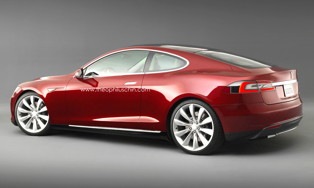 tesla model s coupe rendering autoevolution. Black Bedroom Furniture Sets. Home Design Ideas