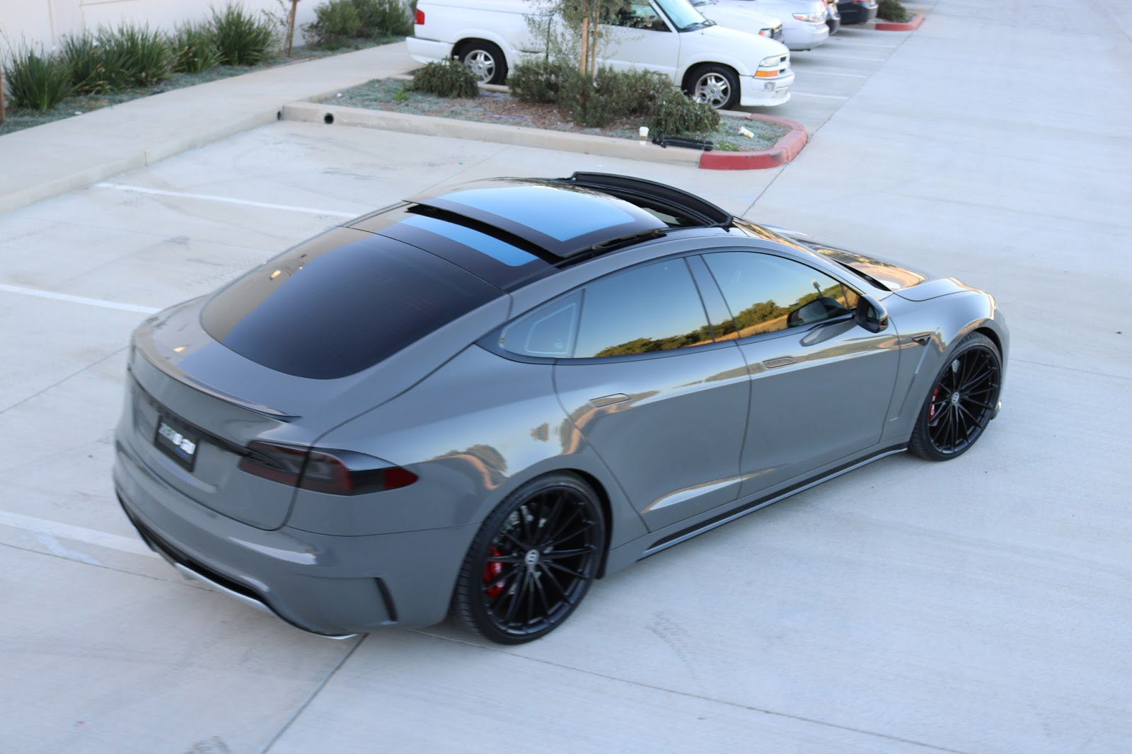 Tesla model s has 40 000 paint and 6 500 body kit by for Nardo grey paint cost