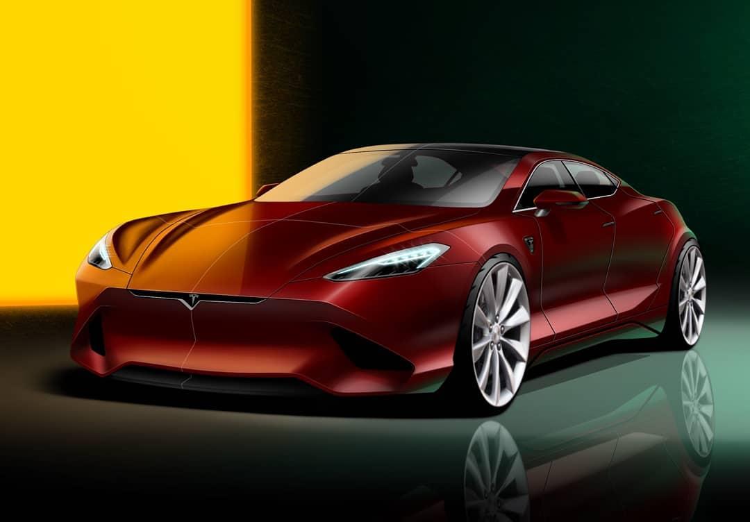 Tesla Model S Rendering Reveals Dated Design of Current Electric Sedan - autoevolution