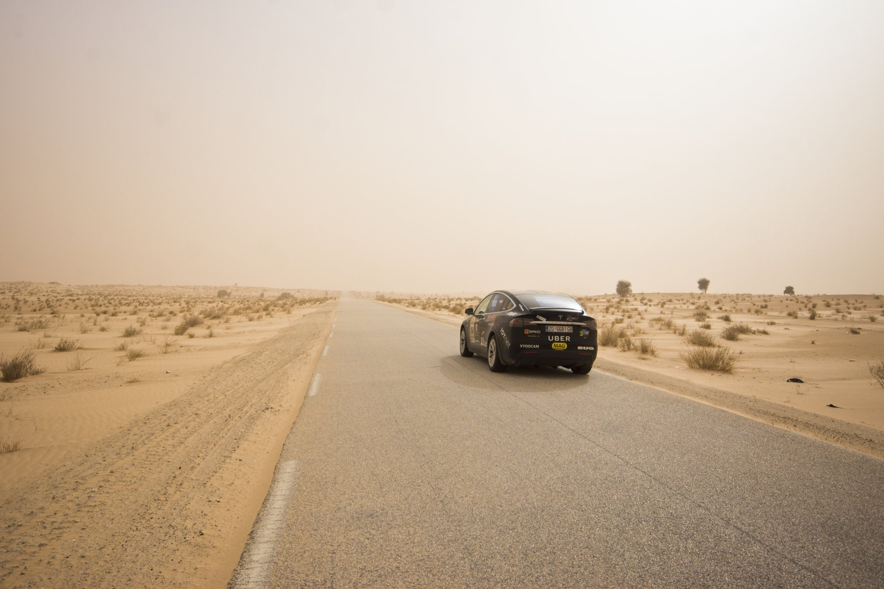 Tesla Model X Crosses The Sahara Desert To Set A First For