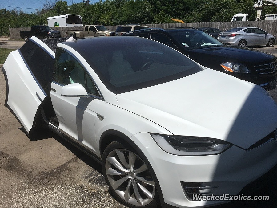 Tesla Model X Falcon Doors In An Impromptu Crash Test They