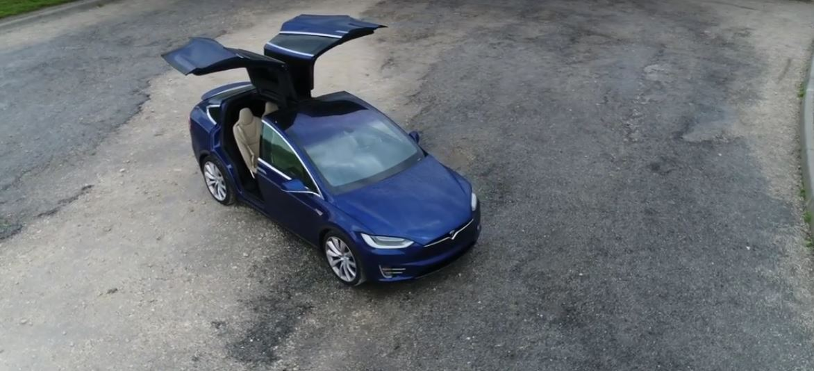 Tesla Model X-Mas Easter Egg Sees Electric SUV Flipping ...