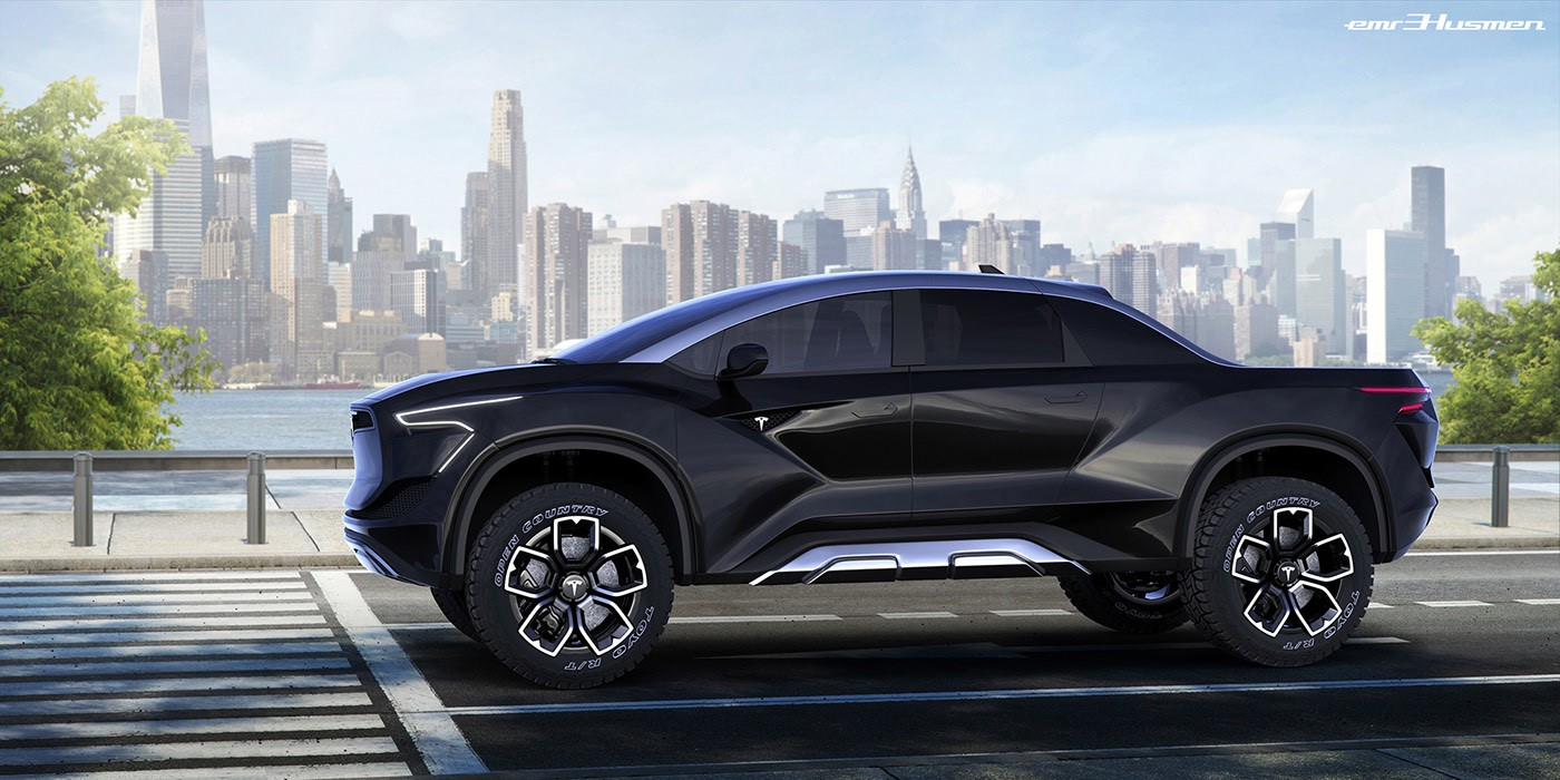 Tesla Pickup Truck Rendering Is The Most Rugged Ev Ever