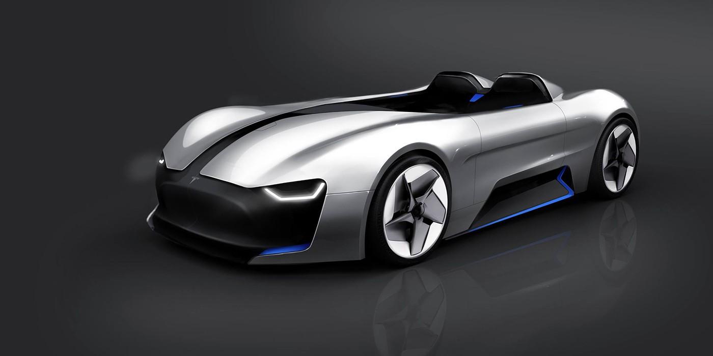 Tesla Roadster Fan Render Reminds Us Of Bmw S Gina Concept