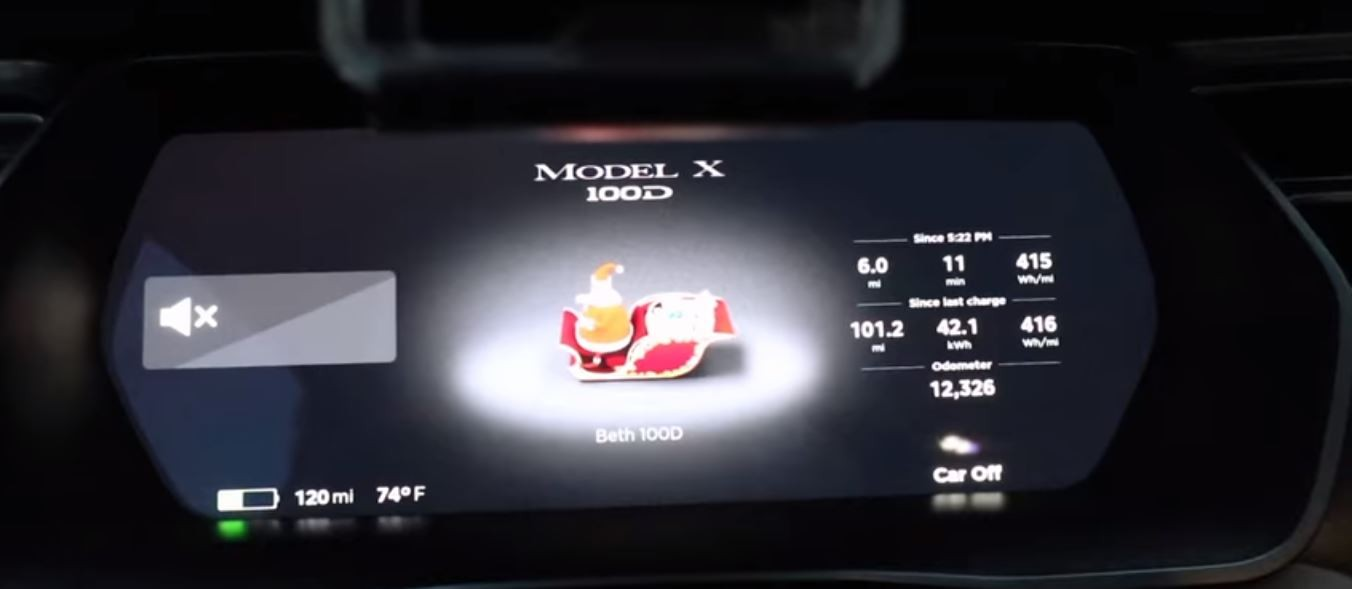 tesla christmas easter egg
