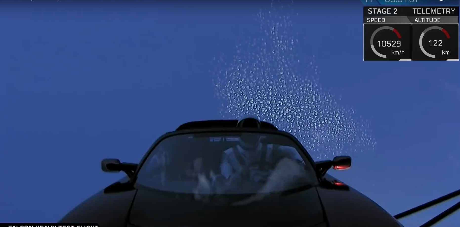 tesla car in space live. tesla roadster in space car live