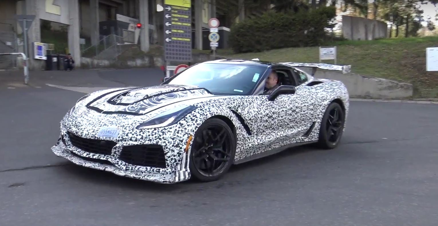 Corvette Zo7 >> The 2018 Corvette ZR1 Looks Committed On The Nurburgring In New Spy Video - autoevolution