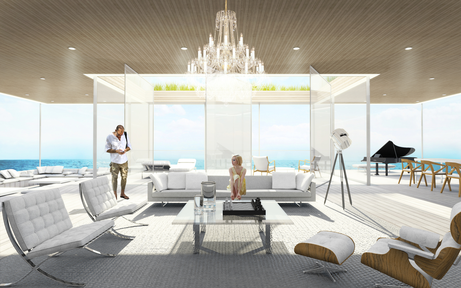 5600 Square Foot Glass Mega Yacht Concept