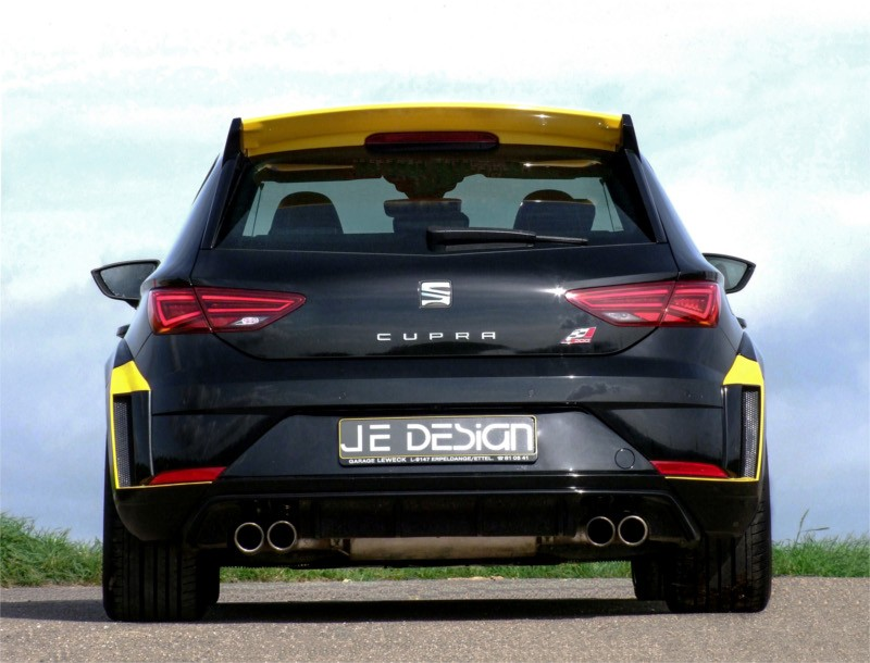 the craziest seat leon cupra tuning: 380 hp with je design kit