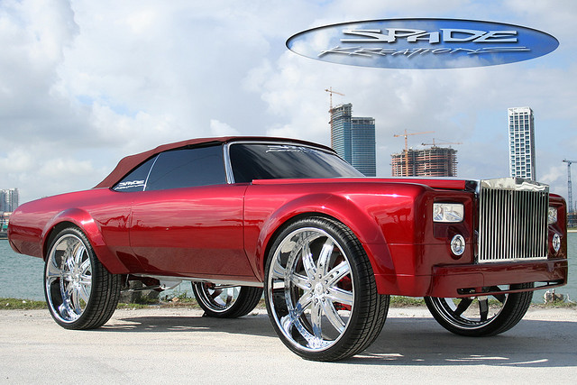 Donk On 26 Inch Wheels Spade Kreations Impala