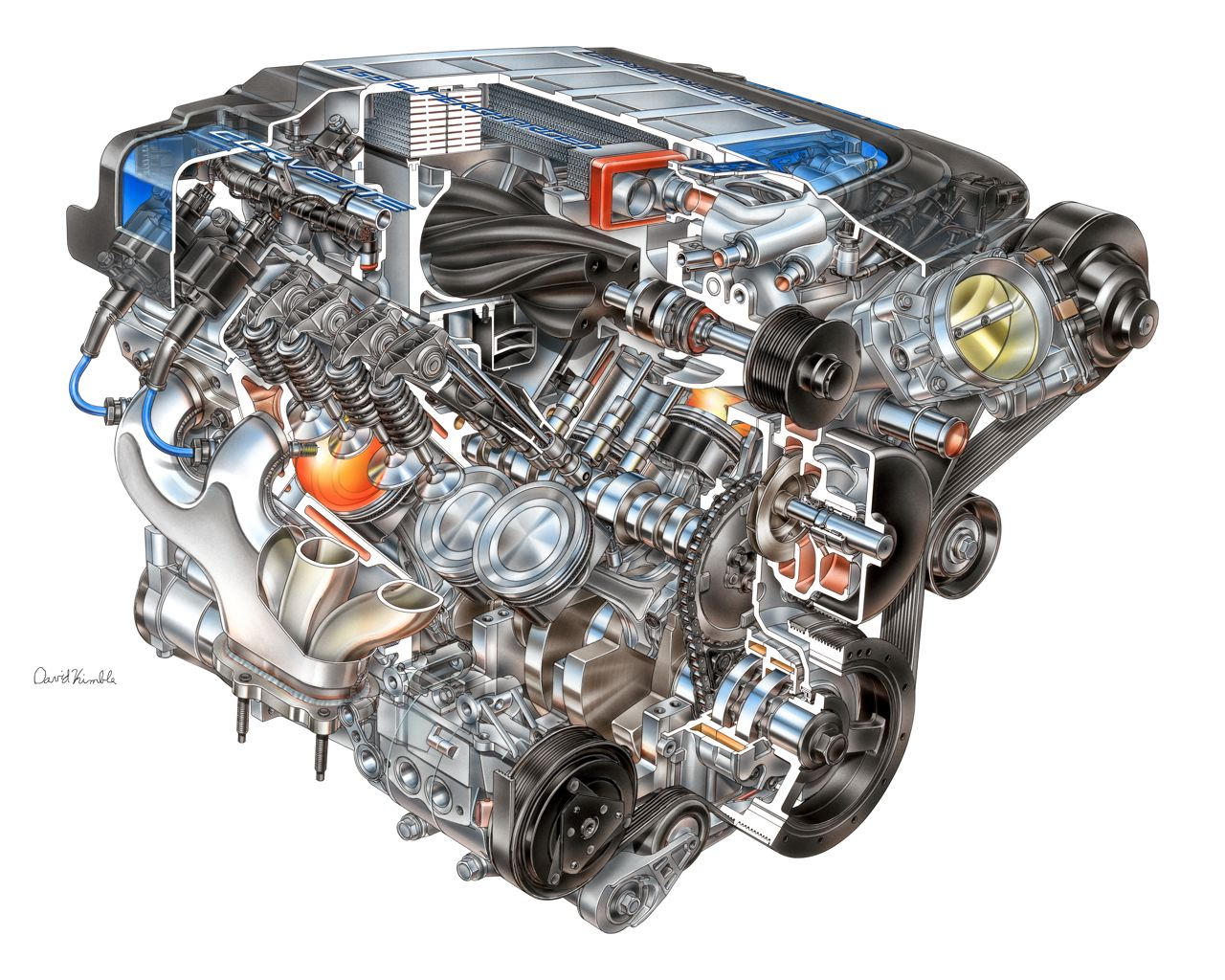 zr1 corvette heart engine cutaway autoevolution chevrolet