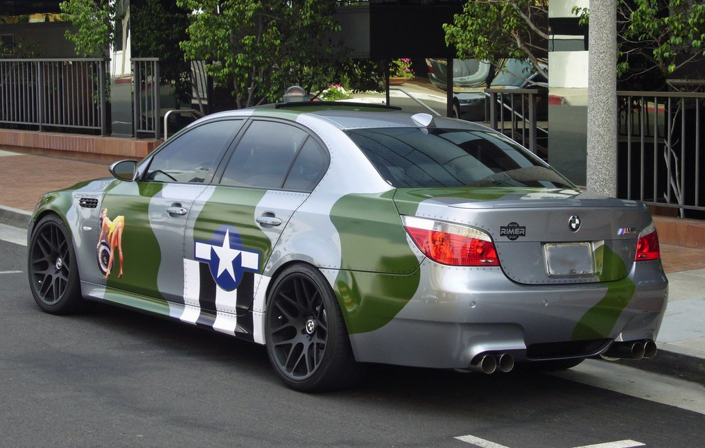 The Irony Bmw M5 With Ww2 Us Air Force Paintjob