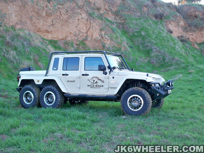 Jeep Wrangler V8 2017 >> Jeep Wrangler 6x6 Pickup Truck has a Hemi V8 and... Guns - autoevolution