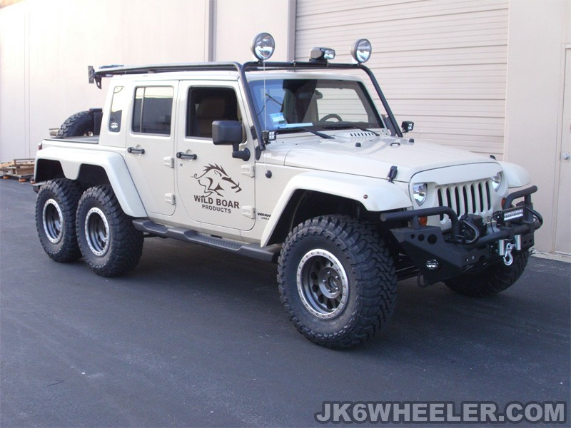 Jeep Wrangler 6x6 Pickup Truck has a Hemi V8 and    Guns