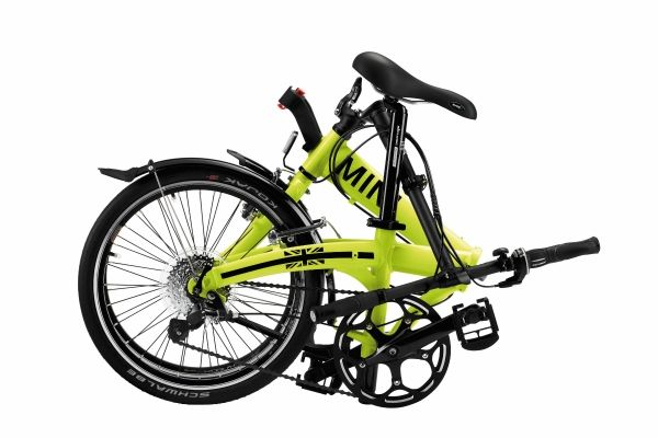 the mini folding bike now comes in lime green autoevolution. Black Bedroom Furniture Sets. Home Design Ideas