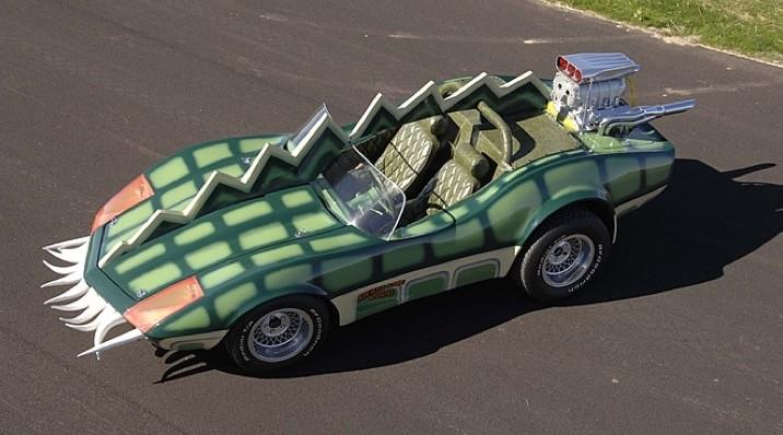 Modified 1975 Corvette C3 Frankenstein Drove In Death Race 2000 Goes On Auction Autoevolution