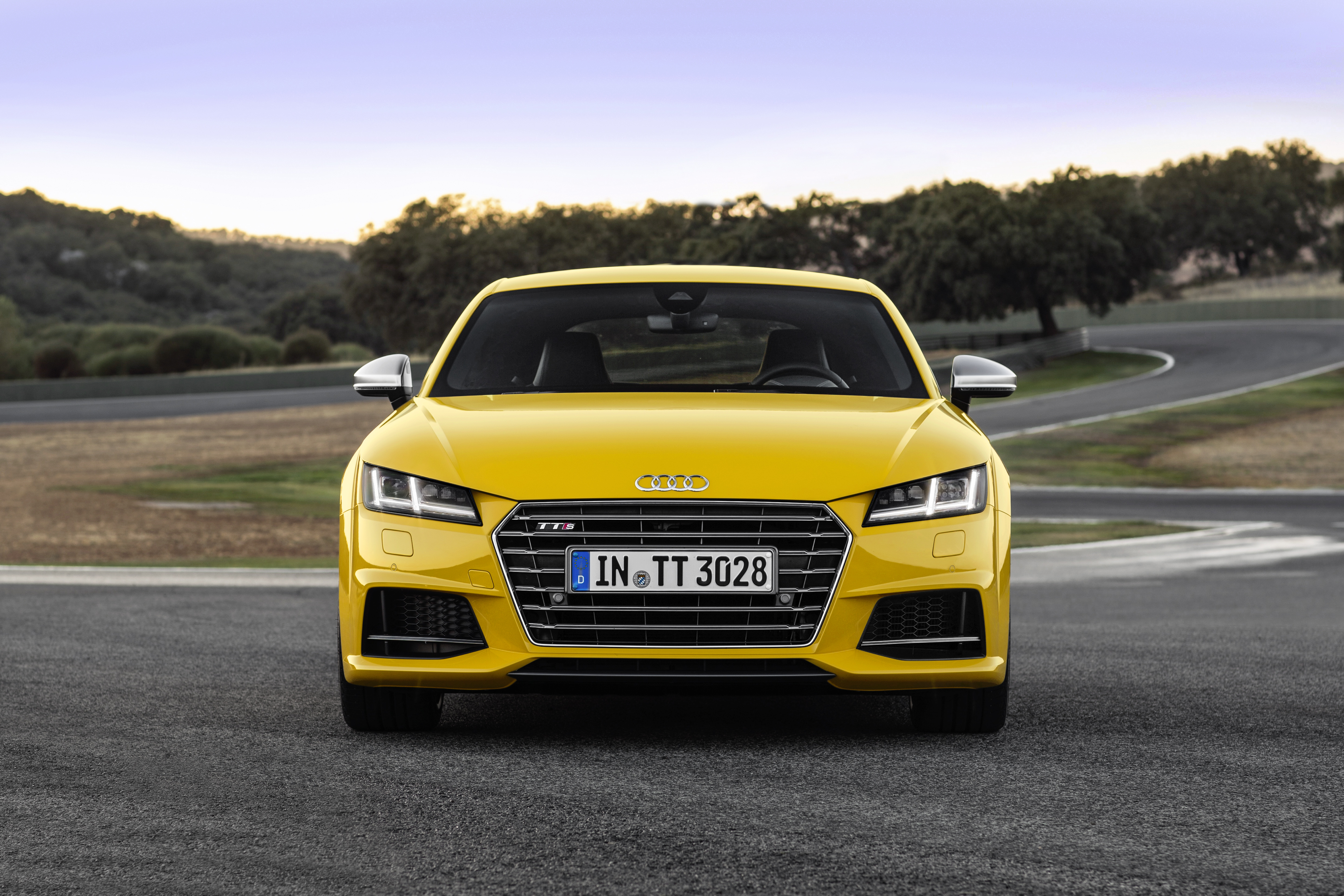 New Audi Tt Tts Coupe Photos Show Vegas Yellow And Tango Red