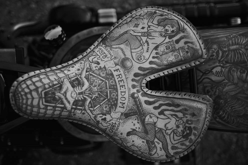 The Recidivist A Custom Harley Covered In Real Skin Tattoos Autoevolution