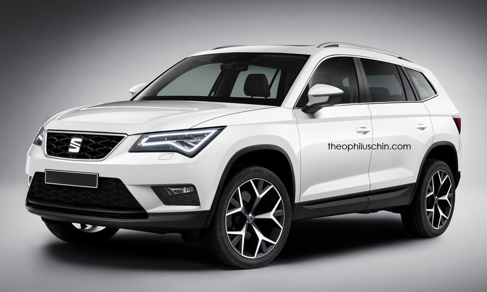 the seat ateca gets rendered as the skoda kodiaq doesn 39 t look too shabby autoevolution. Black Bedroom Furniture Sets. Home Design Ideas
