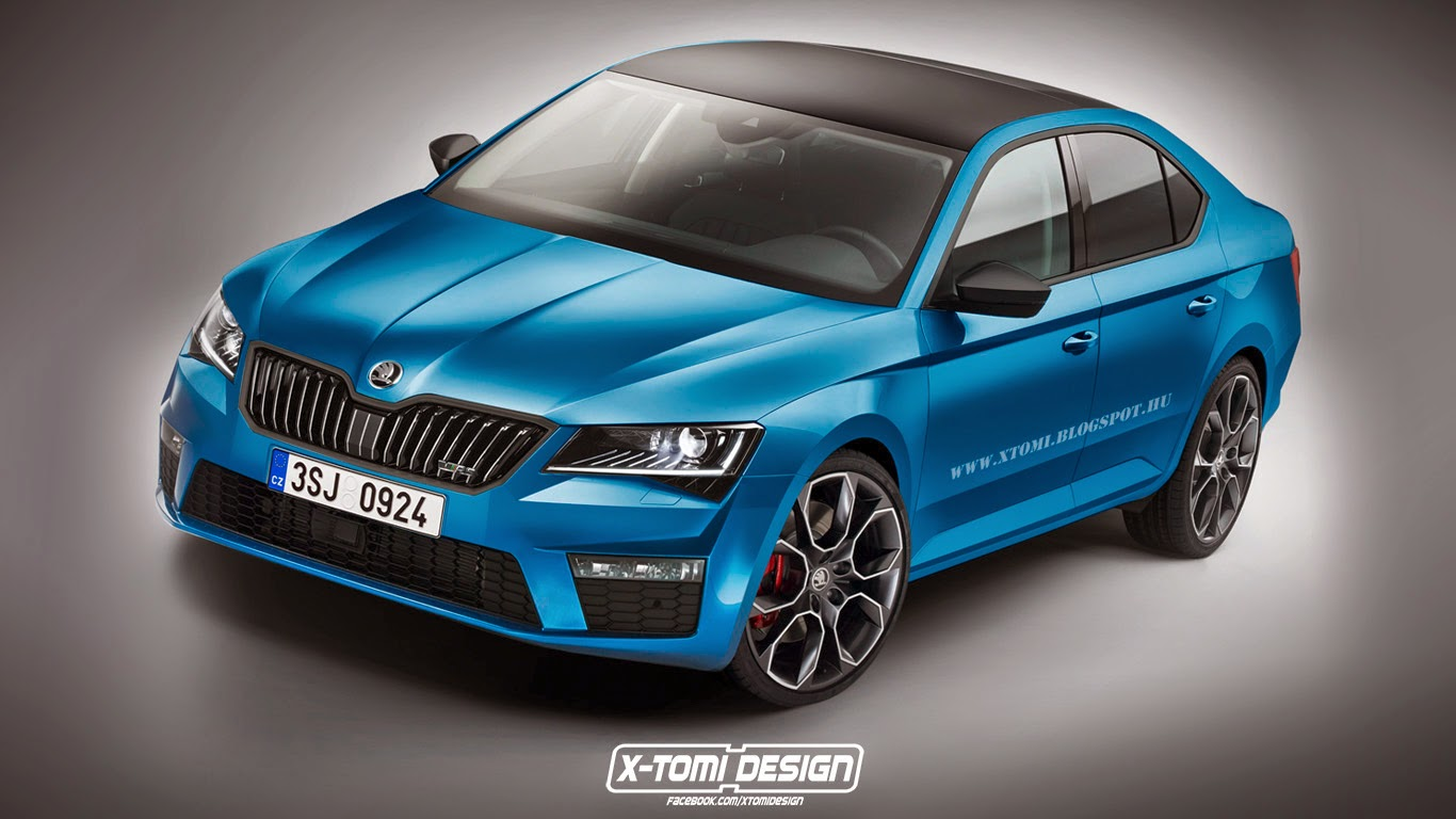 this 2015 skoda superb vrs rendering needs production approval autoevolution. Black Bedroom Furniture Sets. Home Design Ideas