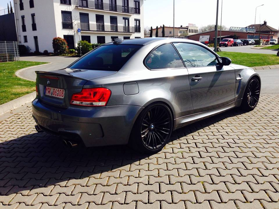 this bmw 1 series coupe has a v10 under the bonnet. Black Bedroom Furniture Sets. Home Design Ideas