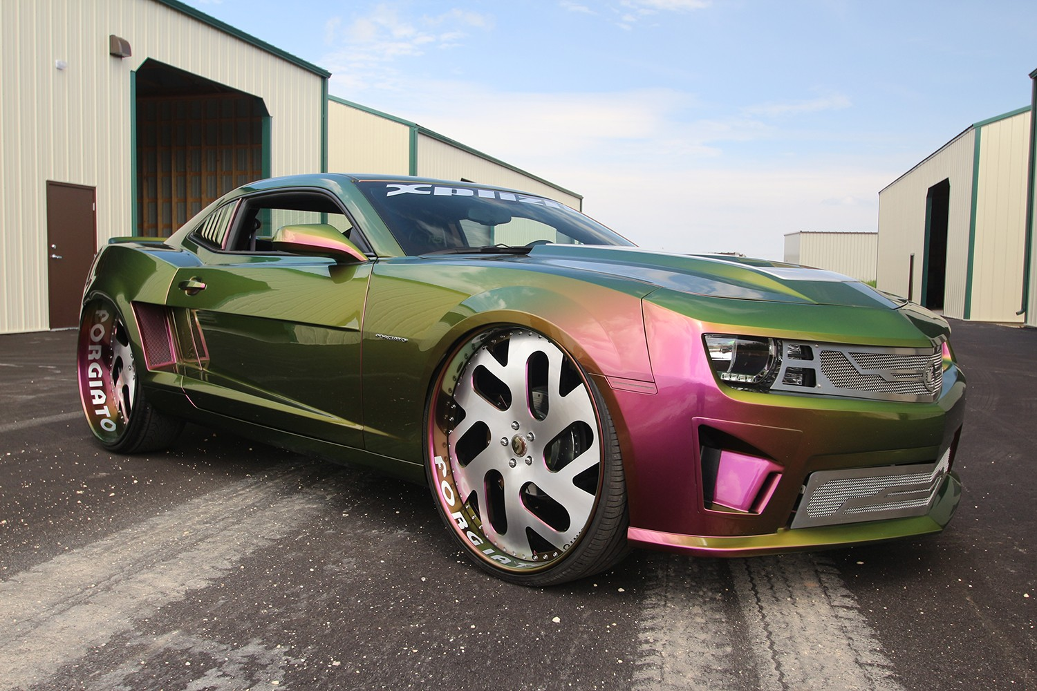 This Chameleon Camaro On Forgiato Wheels Is A Joker