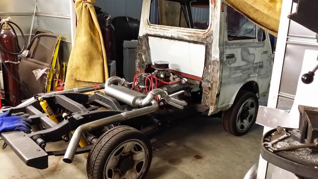 This Crazy Kei Truck Is Getting a Mid-Mounted Chevy V8 ...