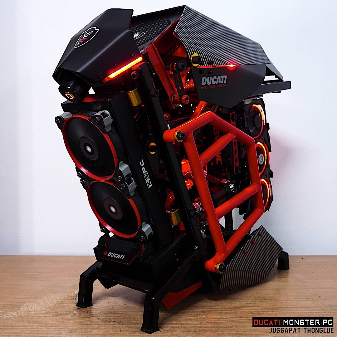 This Ducati Monster Pc Makes For A Gamer S Wet Dream