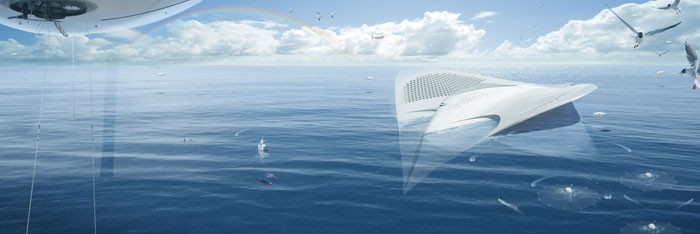 This Floating City Concept Shaped Like a Manta Ray Is Mind