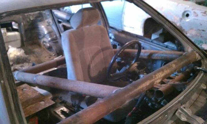 This Guy Turned An Old Camry Into A Demolition Derby Car Watch The Crash Pics on Toyota 2014 Camry