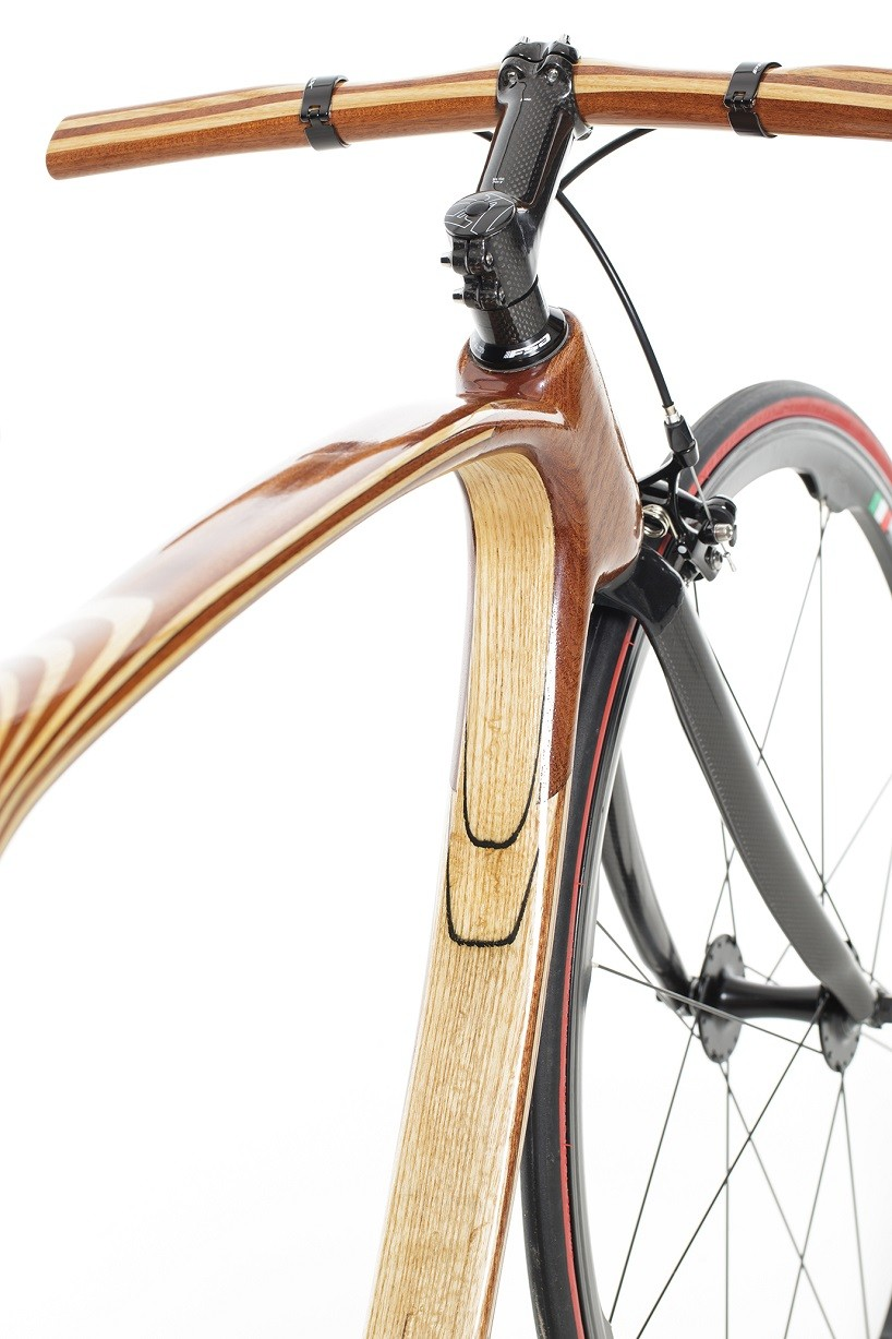This Hand Made Bicycle Is Made Of Both Carbon Fiber And