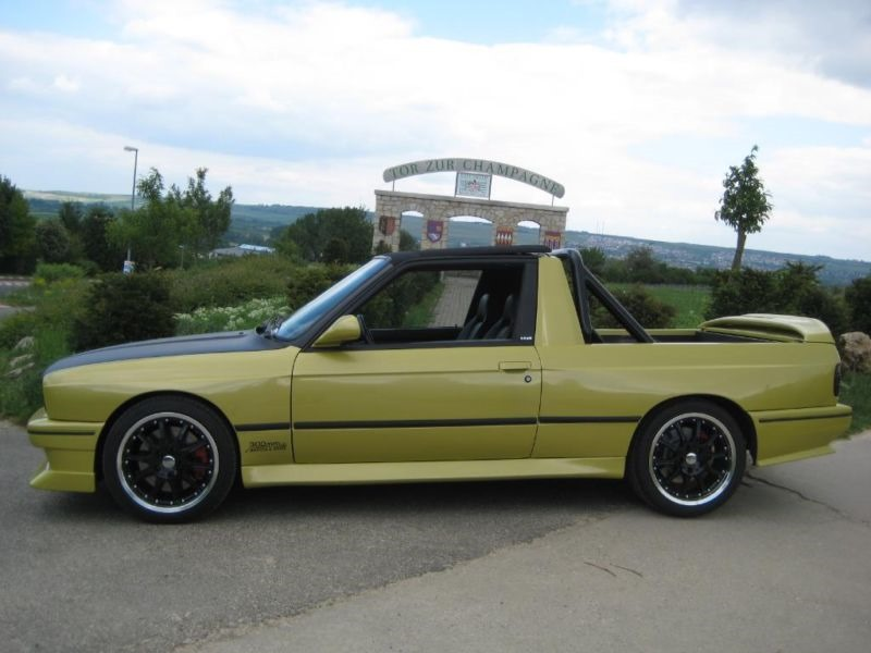 This Baur BMW E30 Convertible Is Now a V8 Pickup Truck - autoevolution