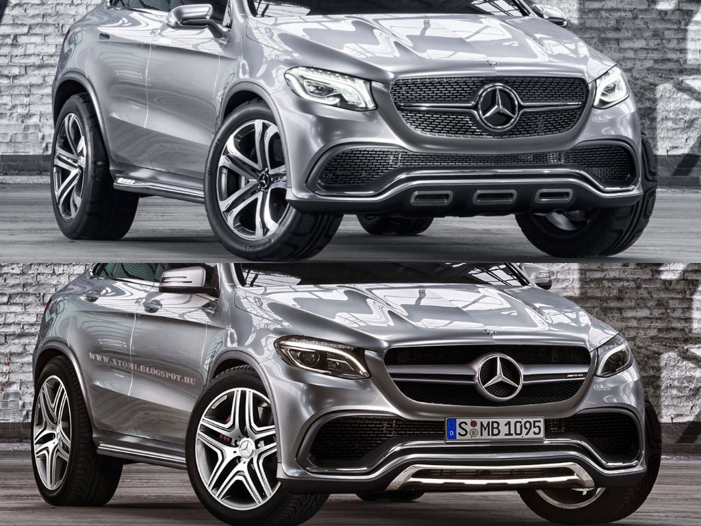 This is how the mercedes benz mlc 63 amg might look autoevolution - Mercedes benz concept coupe suv ...