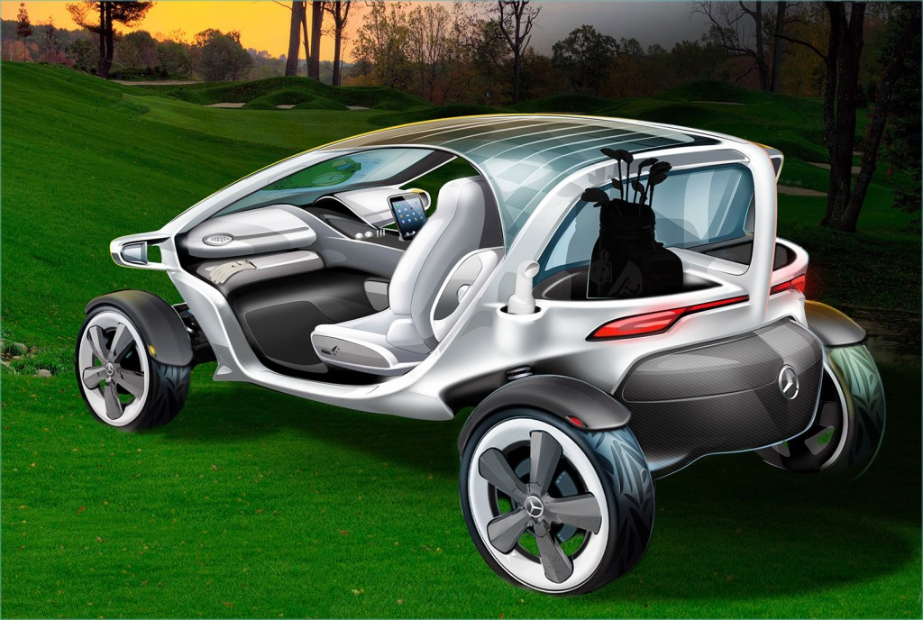 This Is Mercedes Ultimate Golf Cart Photo Gallery