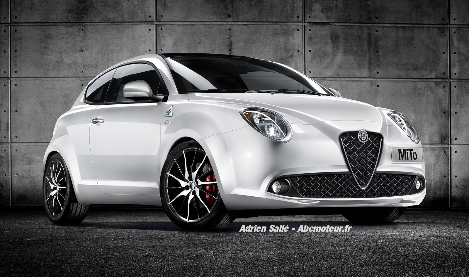 this is what the alfa romeo mito would look like with a giulia front end autoevolution. Black Bedroom Furniture Sets. Home Design Ideas
